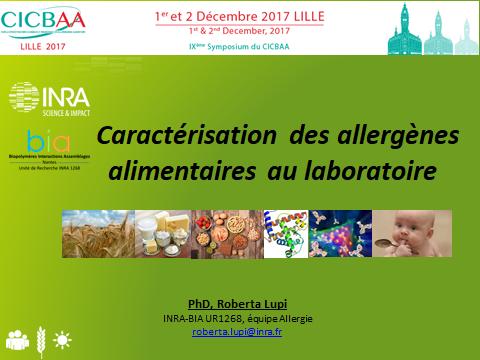 Caractérisation des allergènes alimentaires au laboratoire