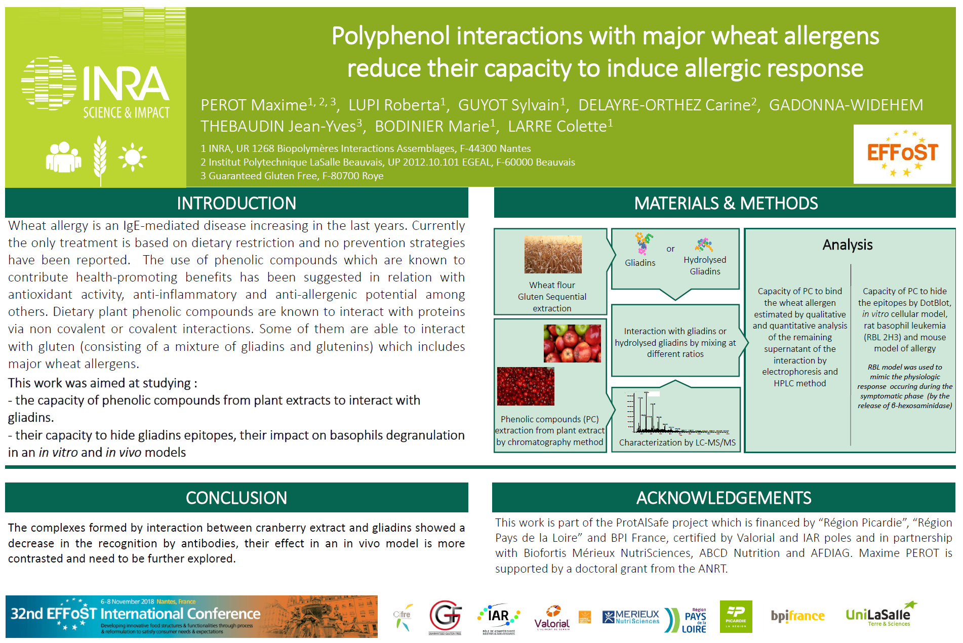 Polyphenol interactions with major wheat allergens reduce their capacity to induce allergic response