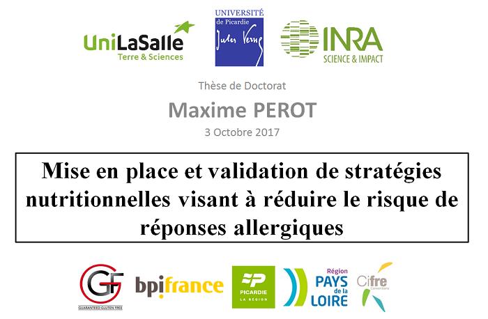 Mise en place et validation de stratégies nutritionnelles visant à réduire le risque de réponses allergiques