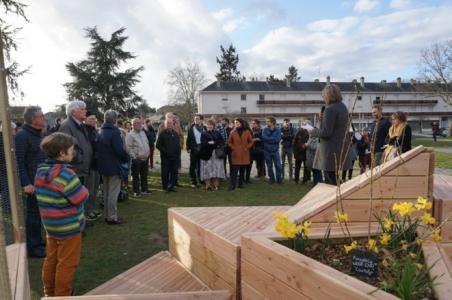 Inauguration de l'espace paysager collaboratif Dauvers'aire