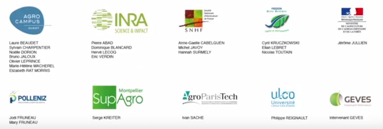 contributeurs MOOC santé des plantes