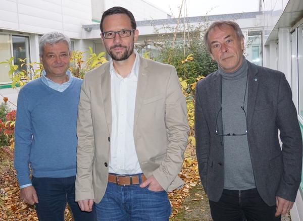 Jean-Pierre renou, Etienne Bucher et Philippe Simoneau