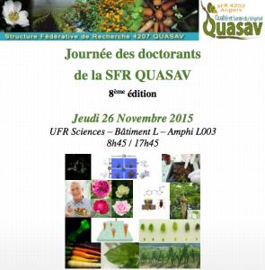 Journée des doctorants de la SFR Quasav