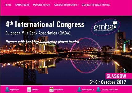 4ème congrès international de l'European Milk Bank Association (EMBA)